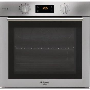 Фурна за вграждане Hotpoint-Ariston FA4S841P IXHA(ST), 71л. обем, 11 програми, механично управление, 3 програми за готвене на пара (Хляб/Месо/Риба), енергиен клас А+, инокс image