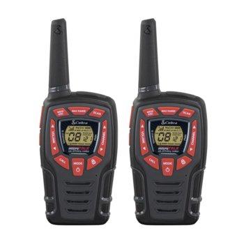 """Радиостанции Cobra AM 845, PMR, 8 канала, до 10 km обхат, LED фенер, функция """"Бебефон"""", черни image"""