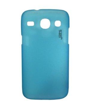 Калъф за Samsung i8262 Galaxy Core Duos, страничен с гръб, пластмаса, 50170, син image