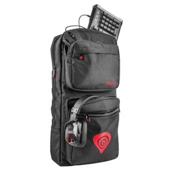 Раница за лаптоп Genesis Pallad 300 Backpack Gaming, 39.6 cm 15.6инча, водоустойчива, черна image