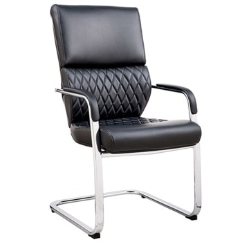 Посетителски стол RFG Grande M, до 120кг. макс тегло, еко кожа, черен image