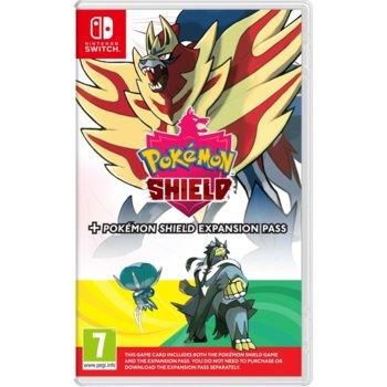 Игра за конзола Pokemon Shield + Expansion Pass, за Nintendo Switch image