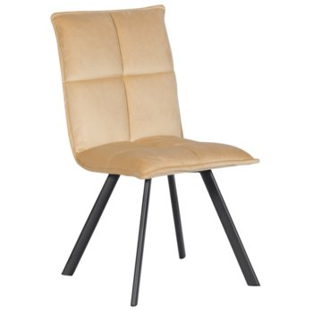 Трапезен стол Carmen 516, до 100кг. макс. тегло, дамаска, метална база, кремав image
