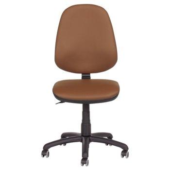 Офис стол Carmen Polo, без подлакътници, еко кожа, полипропилен, кафяв N image