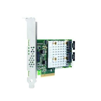 Контролер HPE Smart Array P408i-p SR Gen10, от PCI-E 3.0 x8(м) към 2x x4 Mini-SAS ports(8 SAS lanes)(ж), 12Gb/s SAS/6Gb/s SATA per lane, 2GB Flash-Backed cache image
