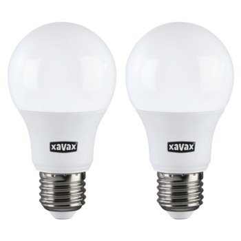 LED крушка Xavax 112701, E27, A60, 9W, 806 lm, 2700K, топло бялa, 2 броя image