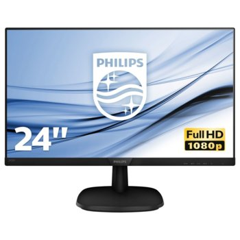 """Монитор Philips 243V7QJABF, 23.8"""" (60.45 cm) IPS панел, Full HD, 5 ms, 10000000:1, 250 cd/m2, HDMI, DisplayPort image"""