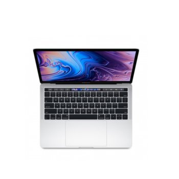 "Лаптоп Apple MacBook Pro 13 (MUHQ2ZE/A_Z0W60007Y/BG)(сребрист), четириядрен Coffee Lake Intel Core i5-8257U 1.4/3.9 GHz, 13.3"" (33.78 cm) Retina IPS LED-backlit Display, (Thunderbolt 3), 8GB, 128GB SSD, macOS Mojave, 1.37 kg БГ клавиатура image"