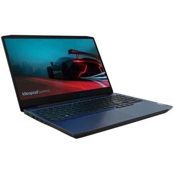 "Лаптоп Lenovo IdeaPad Gaming 3 15ARH05 (82EY00RRRM)(син), шестядрен AMD Ryzen 5 4600H 3.0/4.0GHz, 15.6"" (39.62 cm) Full HD IPS Anti-Glare Display & GF GTX 1650 Ti 4GB, (HDMI), 8GB DDR4, 512GB SSD, 1x USB 3.1 Type C, No OS image"