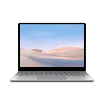 "Лаптоп Microsoft Surface Laptop Go (TNV-00009), четириядрен Ice Lake Intel Core i5-1035G1 1.0/3.6 GHz, 12.4"" (31.50cm) PixelSense Glare Touchscreen Display, (USB-C), 8GB DDR4, 256GB SSD, Windows 10 Pro image"