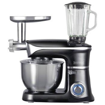 Кухненски робот Royalty Line RL-PKM1900.7BG, 1900W, 6 скорости, 6.5L, 3в1, блендер, миксер, месомелачка, черен image