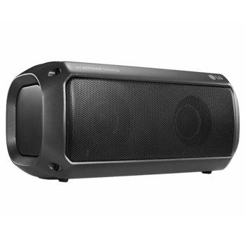 Тонколона LG XBOOM Go PK3, 2.0, 16W, Bluetooth, до 12 часа време за работа, черна, водоустойчива IPX7 image