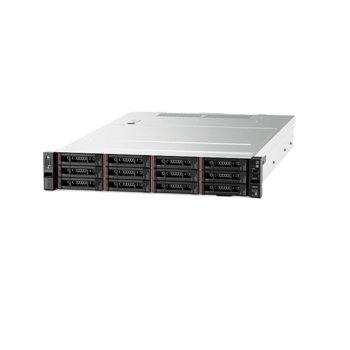 Сървър Lenovo ThinkSystem SR590 (7X99A08LEA), десетядрен Cascade Lake Intel Xeon Silver 4210 2.2/3.2 GHz, 16GB DDR4, 2x 1GbE LOM, 4x USB 3.0, без ОС, (1+1) 750W PSU, 2U rack-mount image