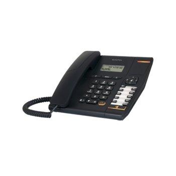 """Стационарен телефон Alcatel Temporis 580, дисплей, функция """"свободни ръце"""", бутон """"mute"""", черен image"""