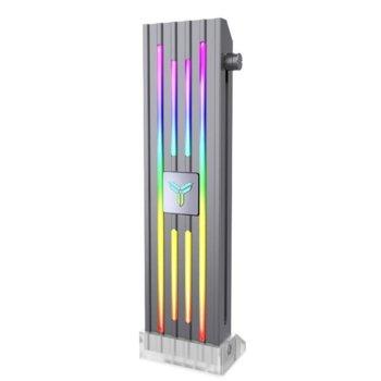 Брекет за видео карта Jonsbo VC-4, подпомага за натоварването на PCI-E слота, RGB подсветка, черен image