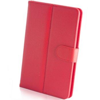 """Калъф за таблет до 10"""" (25.40 cm), """"бележник"""", универсален, червен image"""