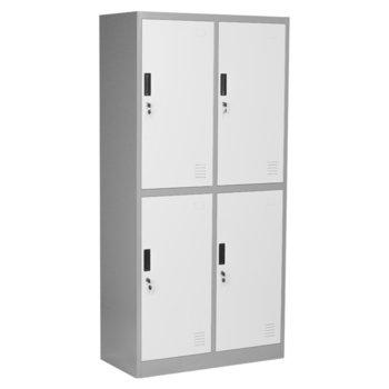 Гардероб Carmen CR-1251 J LUX, 4 бр. шкафове, метален, сив image