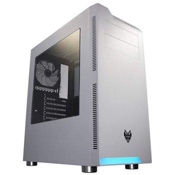 Кутия FSP CMT240, ATX, 2x USB 3.0, прозорец, бяла, без захранване бяла image