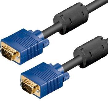 Кабел от VGA(м) към VGA(м), 5м, черен image