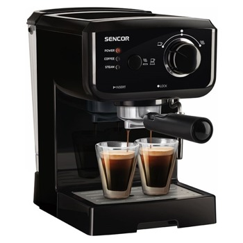 Aвтоматична кафемашина Sencor SES 1710BK, 1140 W, 15 bar, 1.5 л. обем на резервоара, избор на пара/гореща вода, черна image