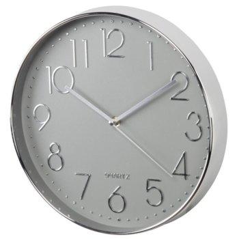 Часовник Hama Elegance 186390, 30 cm, аналогово указание, стенен, сребрист image