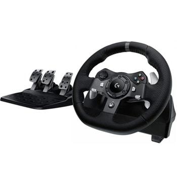 Волан Logitech Driving Force G920, 900° въртене, два мотора за вибрация и реализъм, USB, за Xbox Series X|S/Xbox One/PC image