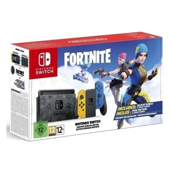 Конзола Nintendo Switch Fortnite Special Edition, 32GB, жълто-черно-синя image