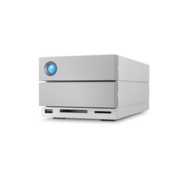 Твърд диск 12TB LaCie 2big Dock (сребрист), външен, Thunderbolt 3, USB 3.1, DisplayPort, SD карта, CF карта image