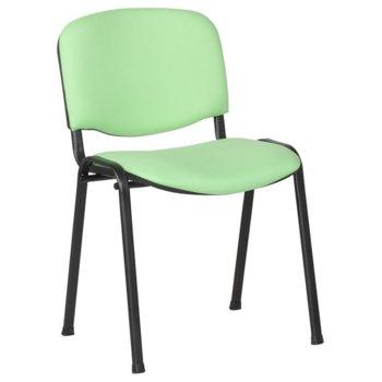 Посетителски стол Carmen 1130 LUX, дамаска, прахово боядисан, зелен image