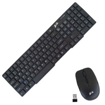 Комплект клавиатура и мишка OEM, ST-MKB898W+803, безжични, мултимедийни клавиши, USB, черни image