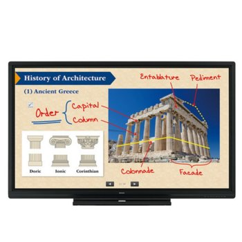 "Интерактивен дисплей Sharp PN70SC5, 70""(177.80 cm), Full HD, 8ms, 350 cd/m2, HDMI, DisplayPort, VGA, черен image"