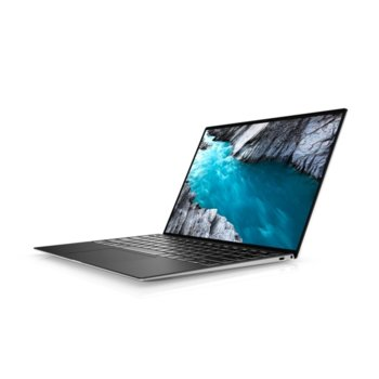 "Лаптоп Dell XPS 9300 (5397184439470)(сребрист), четириядрен Ice Lake Intel Core i7-1065G7 1.3/3.9 GHz, 13.4"" (34.04 cm) Full HD+ Touchscreen Anti-Glare Display, (Thunderbolt 3), 16GB DDR4, 1TB SSD, 1x Thunderbolt 3, Windows 10 Pro image"