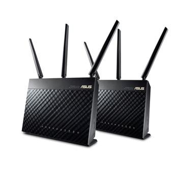 Рутер Asus AiMesh AC1900, 3G/4G, 1900Mbps, 2.4GHz(600 Mbps) / 5GHz(1300 Mbps), Wireless AC, 4x LAN1000, 1x WAN1000, 1x USB 3.0, 1x USB 2.0, 3x външни антени image