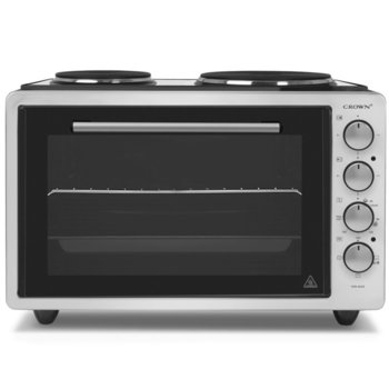 Готварска печка Crown CMO-422SI, 2 броя нагревателни зони, 42 л. обем на фурната, инокс image