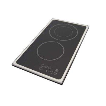Керамичен плот за вграждане Finlux FXVT 322D IX, 2 нагревателни зони, сензорно управление, защита от деца, черен image