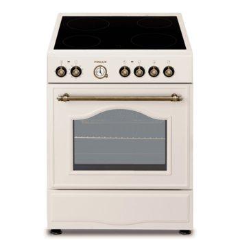 Готварска печка Finlux RUSTIC 60, A, 4 нагревателни зони, 56L, шампанско image