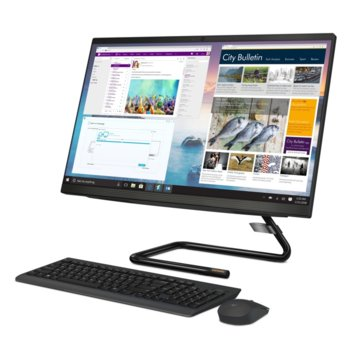 "All In One компютър Lenovo Ideacentre A340-22ICK (F0ES0058BG), двуядрен Coffee Lake Intel Pentium G5420T 3.2 GHz, 21.5"" (54.62cm) Full HD WVA Anti-Glare Display, (HDMI), 4GB DDR4, 1TB HDD, 2x USB 3.1, No OS  image"