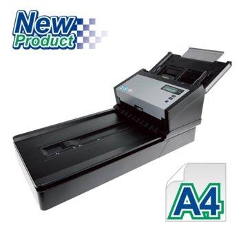 Скенер Avision AD280F, 600 dpi, A4, USB 3.1 Gen 1, 100 листа капацитет, черен image