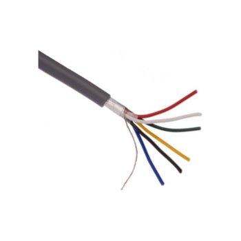 Сигнален СОТ кабел, 6 x0.22, 100m, eкраниран image