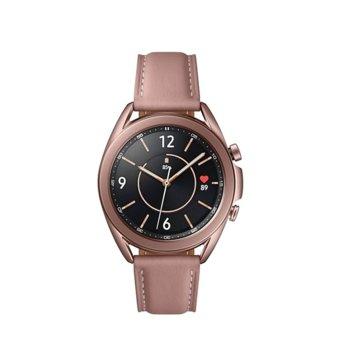 "Смарт часовник Samsung Galaxy Watch3, 41 mm, 1.2"" (30.2mm) Super AMOLED дисплей, Bluetooth, 1GB RAM, 8GB ROM, до 43 часа време на работа, бронз image"