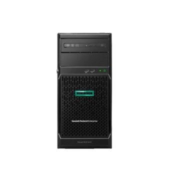 Сървър HPE ML30 G10 (P16926-421), четириядрен Coffee Lake Intel Xeon E-2234 3.6/4.8 GHz, 8GB UDIMM DDR4, без твърд диск, 2x 1GbE, без ОС, 1x 350W PSU image