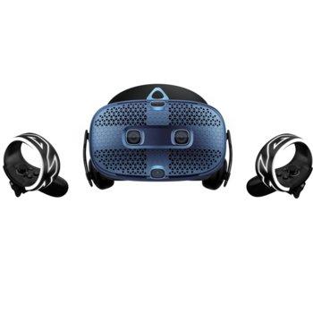 Очила за виртуална реалност HTC Vive - Cosmos, безжични, 110° зрителен ъгъл, 2880x1700 резолюция, 2x безжични контролера, USB 3.0, сини image