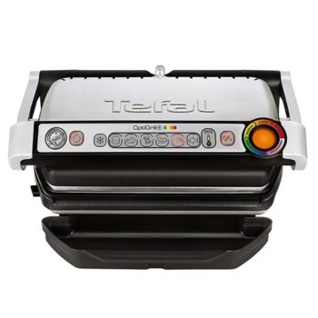 Грил Tefal Optigrill+ GC712D34, система за автоматично готвене, сменяеми плочи, 2000W, инокс  image