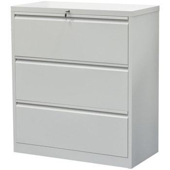 Кардекс RFG DZX-016, 3x чекмеджета, прахово боядисан, метален, заключване, сив image