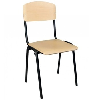 Посетителски стол Wood, до 120кг, бук, метална база, светлокафяв image