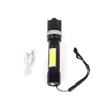 Фенер Royal 101-1, вградена батерия, 2 светодиода, функция ZOOM, 3 режима на работа, алуминиев корпус, черен image