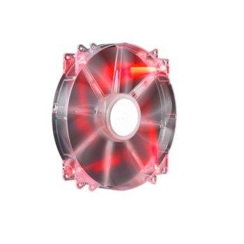 Вентилатор 200mm, CoolerMaster MegaFlow 200, Red LED, 3-пинов, 700 rpm image