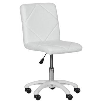 Детски стол Carmen 7024-1, до 70кг, еко кожа, полипропиленова база, газов механизъм за регулиране на височината, газов амортисьор, бял image