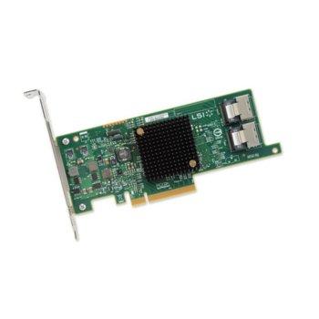 Контролер Broadcom SAS 9207-8I, от PCI-Express 3.0 x8(м) към 2x MiniSAS SFF8087, SATA/SAS 6Gb/12Gb/s, Fusion MPT 2.0 image