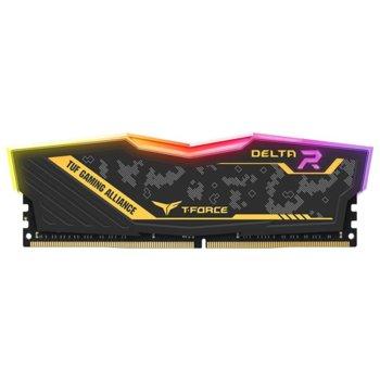 Памет 16GB (2x 8GB) DDR4 3200MHz, Team Group Delta TUF RGB, TF9D416G3200HC16CDC01, 1.35V image